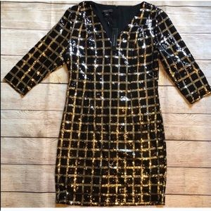 Black & Silver Mini Dress